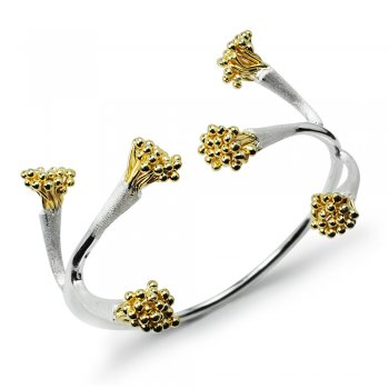 Two-Tone Corymb Cluster Two Toned Bangle