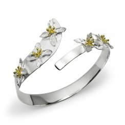 Two-Tone Eternal Blossom Bangle