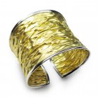 Two-Tone Luxury Cuff Crinkle Wrapped Bangle