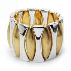 Two-Tone Sterling Silver Tempest Delight Bangle