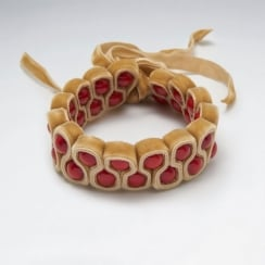 Unique Designs Red Velvet Bead Bracelet