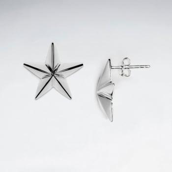 Whimsical Sterling Silver Star Stud Earrings