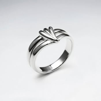 Woman's Sterling Silver Style in Flourish Fashion Ring