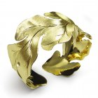 Wonders of Nature Gold Tone Sterling Silver Bangle